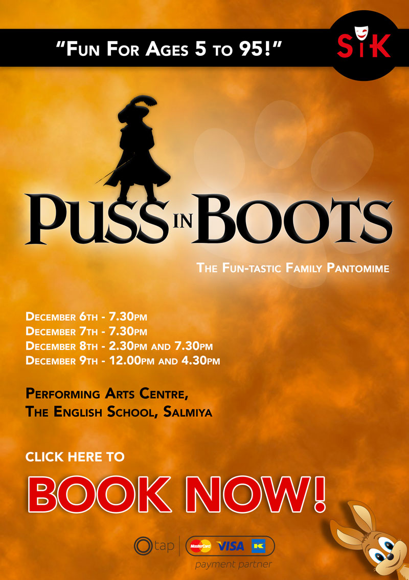 Puss in Boots - BOOK NOW!