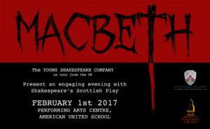 YSC on tour - MACBETH @ American United School, Kuwait