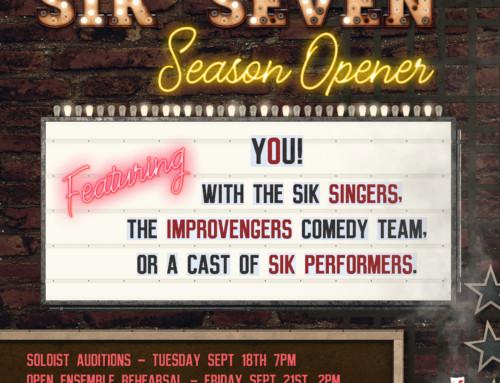 SIK's SEVENTH Season Opener