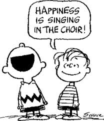 Happiness is singing in choir